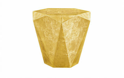 Bretz Beistelltisch Stealth B145G Messing Blatt golden