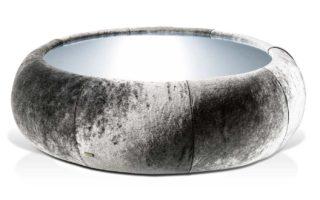 Bretz Couchtisch Cloud 7 N154 in silberschimmer