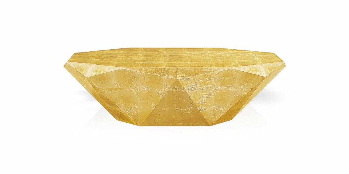 Bretz Couchtisch Stealth J145G golden (Messing Blatt)