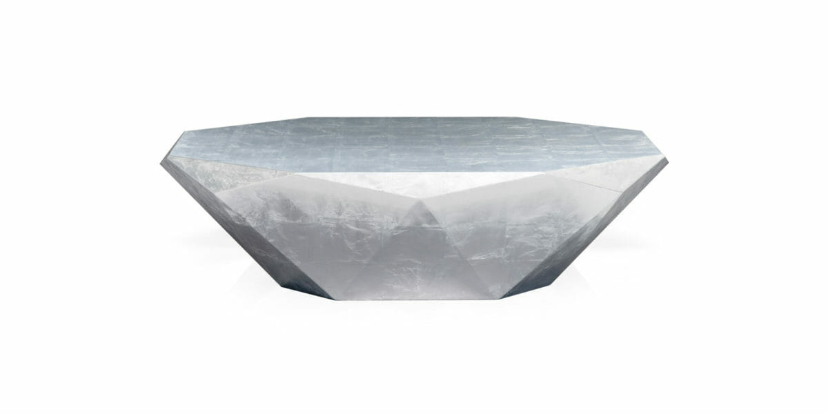 Bretz Couchtisch Stealth J145S silbern (Aluminium Blatt)
