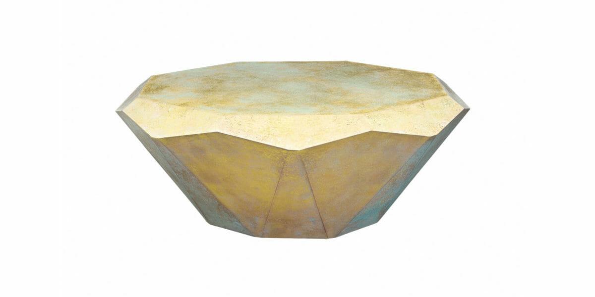 Bretz Couchtisch Stealth R145MP golden (Messing patiniert)