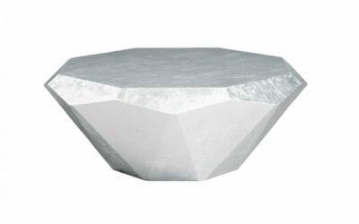 Bretz Couchtisch Stealth R145S Silbern (Aluminium Blatt)