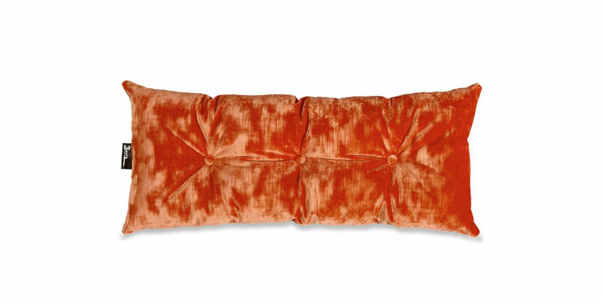 Bretz Nierenkissen D 118V in Velvet orange Bezug