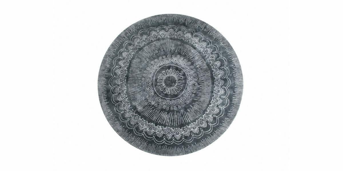Bretz Teppich Mahendi P 153MA in anthrazit/silber