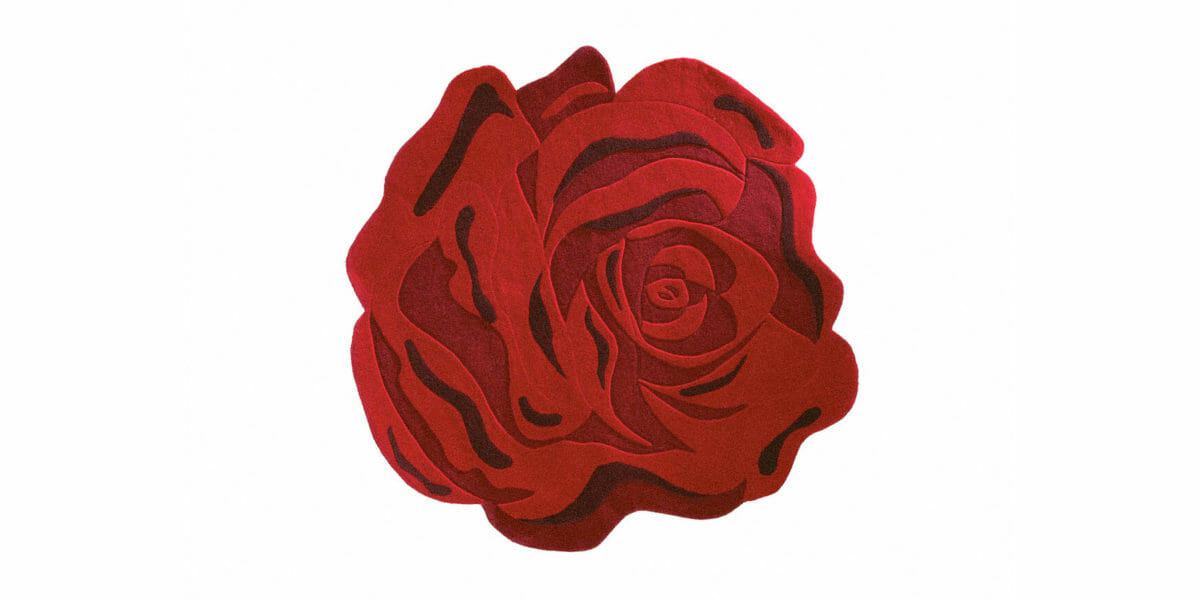 Bretz Teppich Rosenblüte P 153RO in rot/schwarz