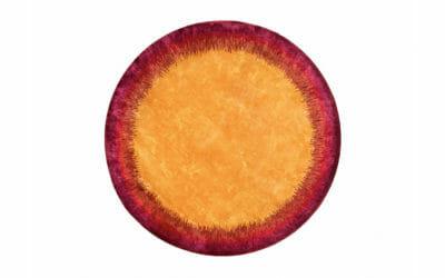 Bretz Teppich Sundowner P 153SU in lila/pink/gelb