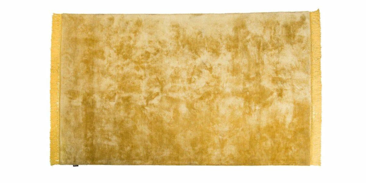 Bretz Teppich Viscose Solid P 153VS in gold