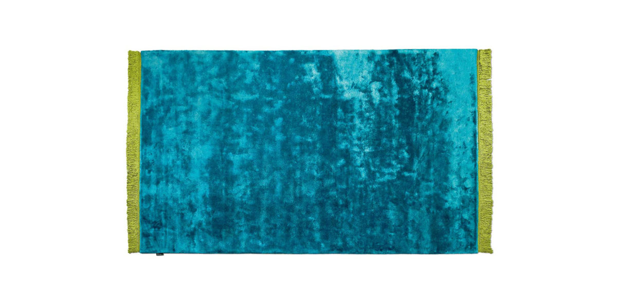 Bretz Teppich Viscose Solid P 153VS in turquoise
