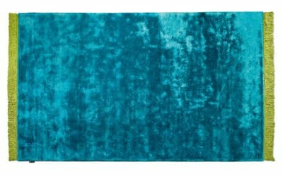 Bretz Teppich Viscose Solid P 153VS in turquoise