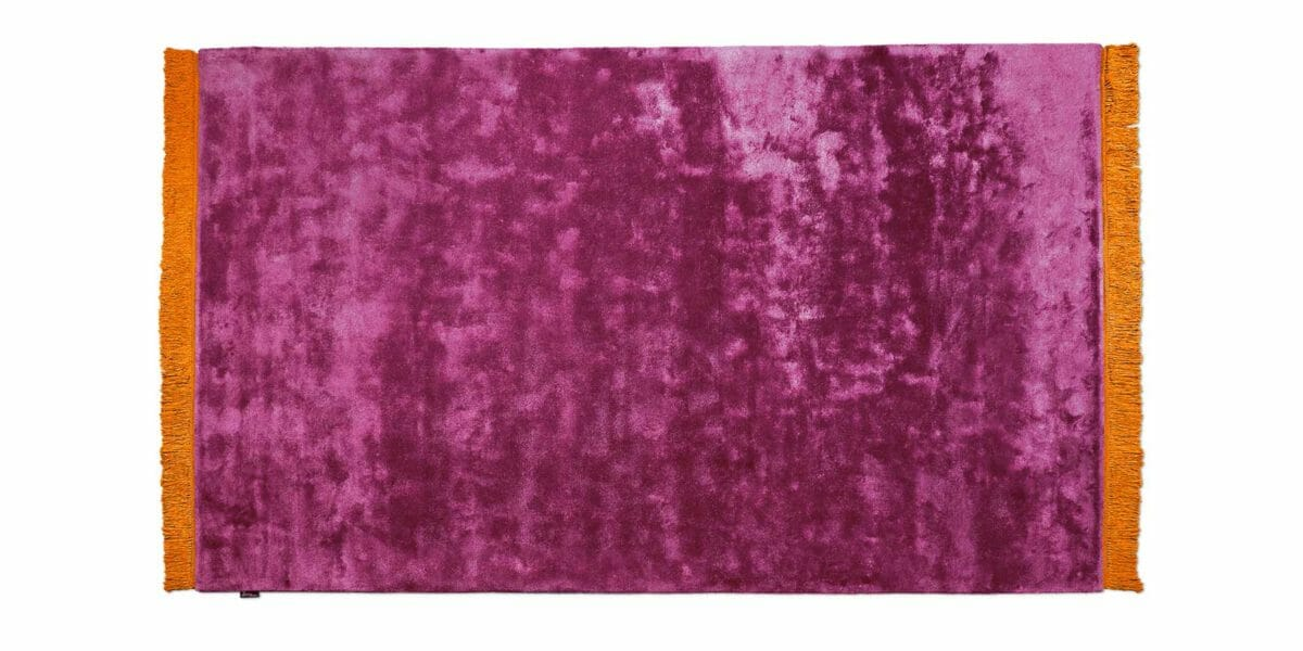 Bretz Teppich Viscose Solid P 153VS in violet