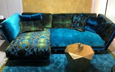 Bretz Napali Sofa Uli-Xre 126 in blau/türkis Mix Bezug