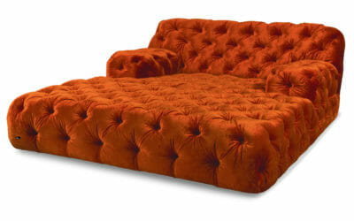 Bretz Day Bed Cocoa Island VD 119lr in Orange Bezug