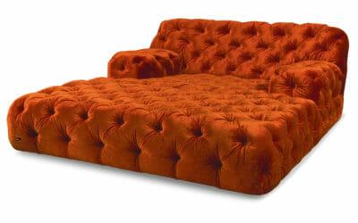 Bretz Day Bed Cocoa Island VD 119lr in Orange Bezug