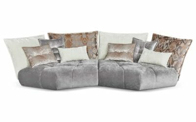 Bretz Sofa Matilda G116 in Father grey/arabesk greige Bezug