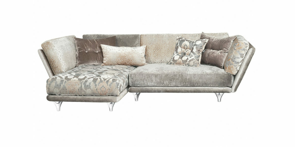 Bretz Sofa Napali 126 Set 7 (Xli-Ure) in Greige mix Bezug