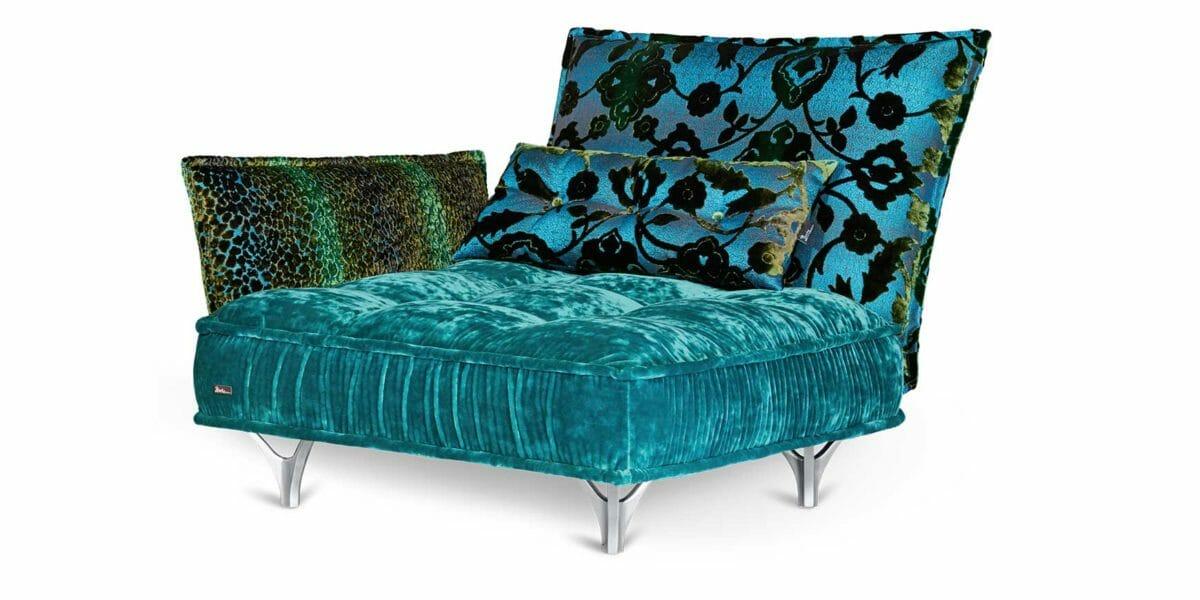Bretz Sessel Ohlinda in lagoon blue/arabesk türkis