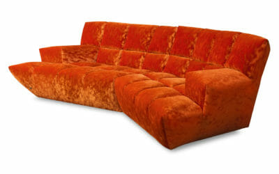 Bretz Sofa Cloud 7 F154 in Velvet orange