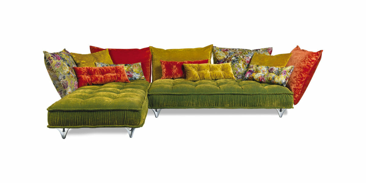 Bretz Sofa Ohlinda Z118 in Midsummer oliv / gobelin Bezug