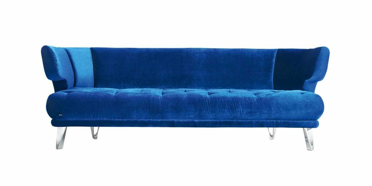 Croissant F113 Sofa von Bretz in blue moon