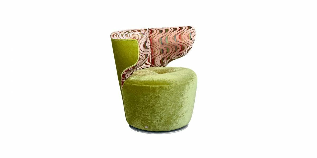 Bretz Drehsessel Croissant A113 in kiwi