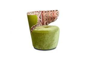 Bretz Croissant Sessel A113 in kiwi