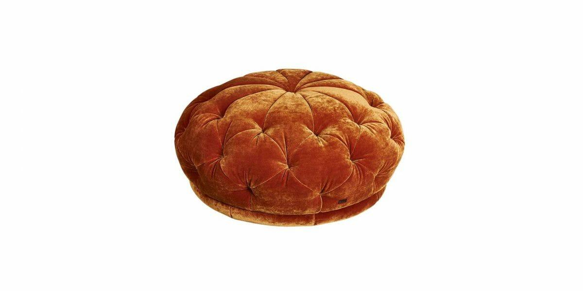 Croissant Hocker C113 von Bretz in kupfer