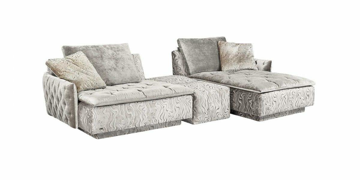 BRETZ Filousof 112 Sofa mit Ottomane und Anbauhocker | S A L E