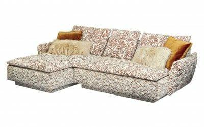 Filousof Sofa mit Ottomane Xli-C-Xre 112 goldfish / annapurna / fiffi mix