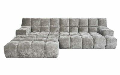 Bretz Ocean 7 Sofa mit Ottomane UDli-Ure 158 in Elefant
