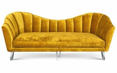 Bretz Sofa La Collina F111 in Bohéme Honey Bezug
