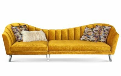 Bretz Sofa La Collina G111 in Bohème Honey Bezug