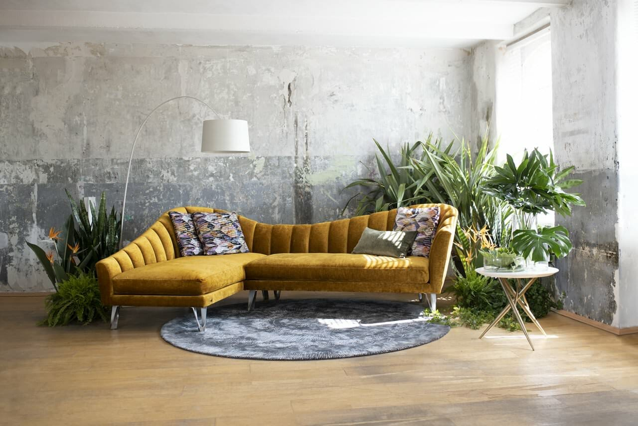 Bretz La Collina Ecksofa in gold