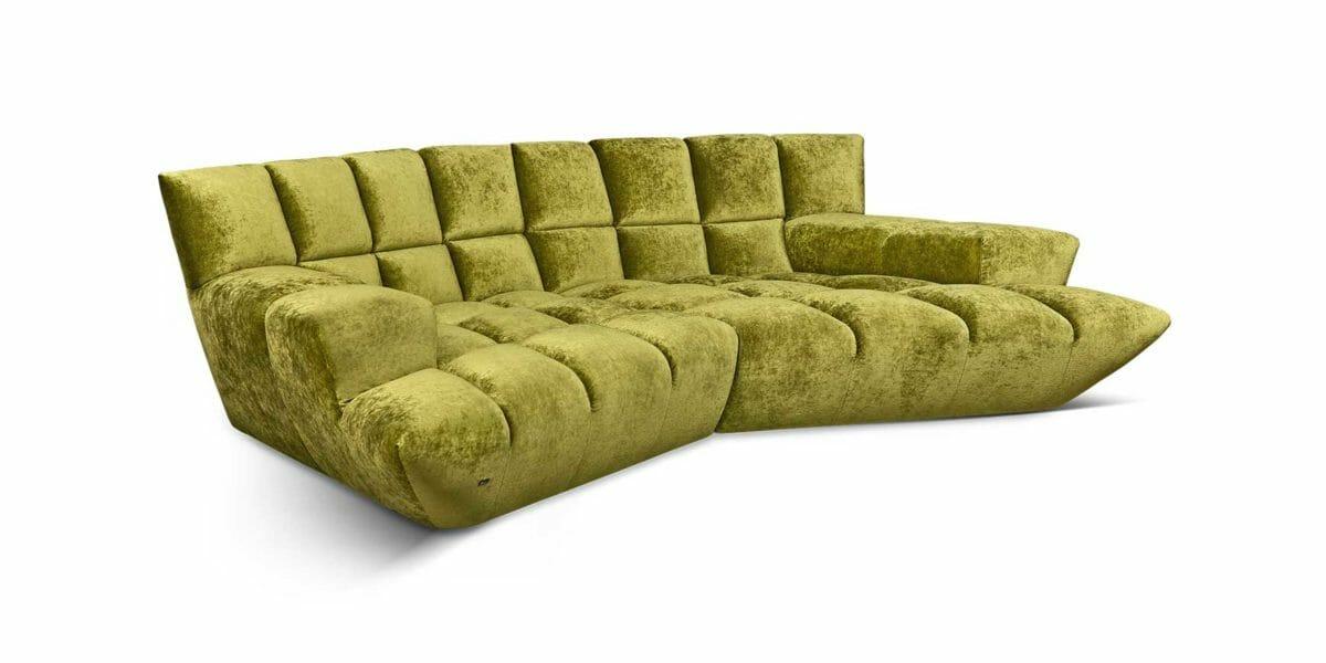 Bretz Cloud 7 Sofa G 154 in olive