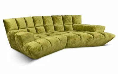 Bretz Sofa Cloud 7 G 154 in Bohème Olive Bezug