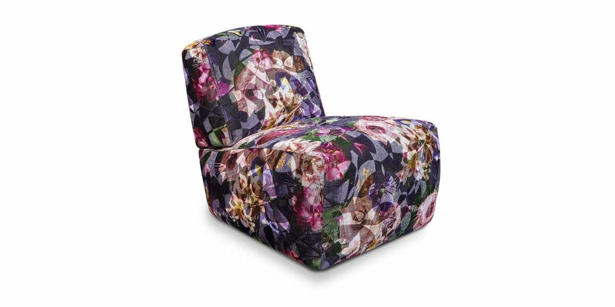 Drop City Sessel A110 in purple haze ohne Armlehne von Bretz