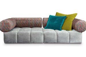 Bretz Sofa ED F109 in Feather grey / mikado Bezug