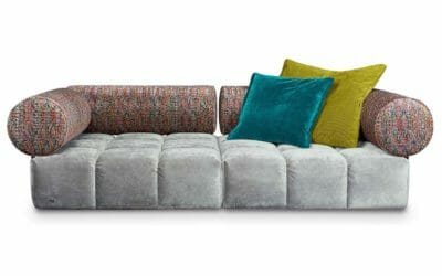 Bretz Sofa ED F109 in Feather grey / mikado Bezug
