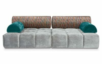 Bretz Sofa ED FL109 in Feather grey/mikado Bezug