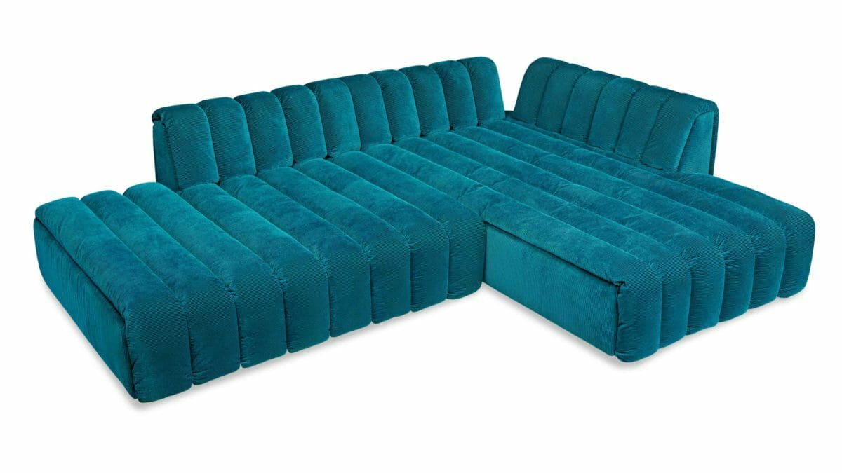 Bretz Sofa Moonraft H108re in turquoise Bezug