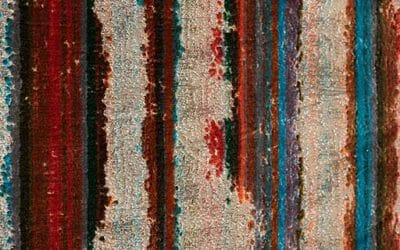 Bretz Stoff 668834 (BREIT/türkis-rot-violett)