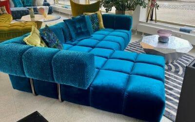 Bretz Sofa Edgy Z109 Set 2 in Enzian/Raindrops Bezug als reduziertes Ausstellungsstück