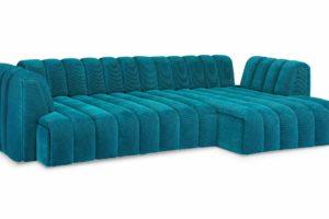 Bretz Sofa Moonraft Y108re in Turquoise Bezug