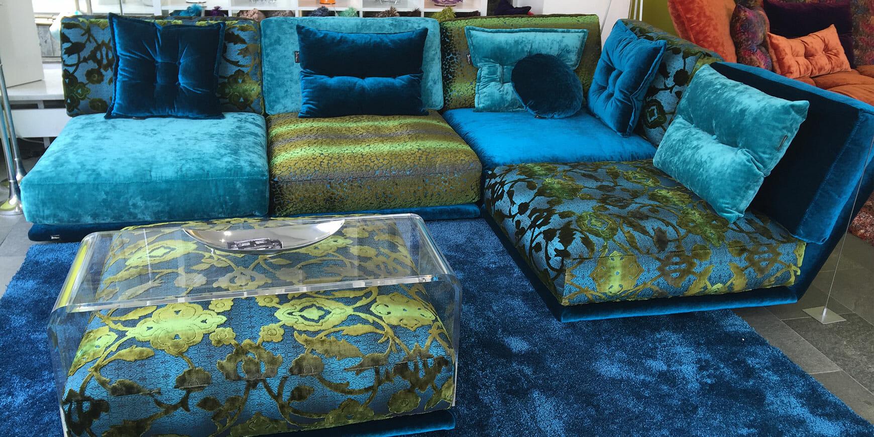 bretz napali ecksofa set 1 126 in blau t rkis mix bezug bretz designerm bel n rnberg. Black Bedroom Furniture Sets. Home Design Ideas
