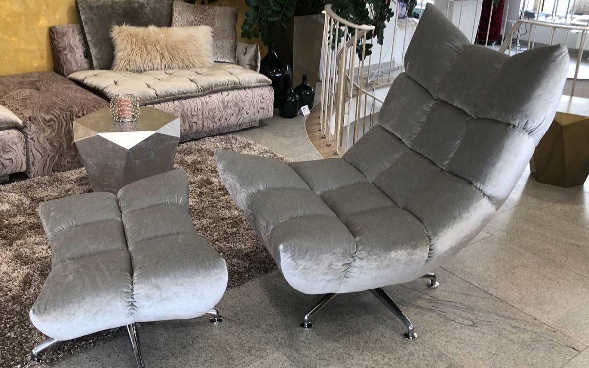 bretz hangout dreh wippsessel in silber als. Black Bedroom Furniture Sets. Home Design Ideas