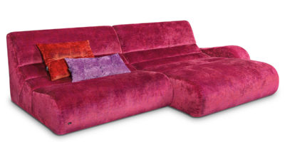 Bretz Myami Sofa V-VD-L in Berry Mix
