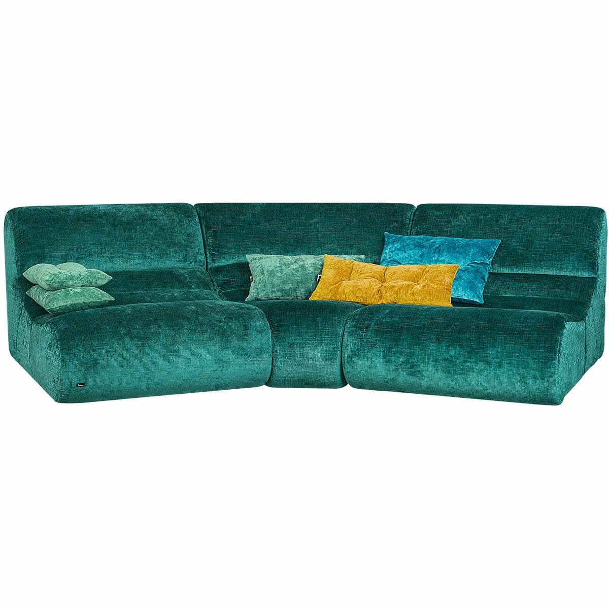 Bretz Sofa MYAMI U-S-U in türkis Mix