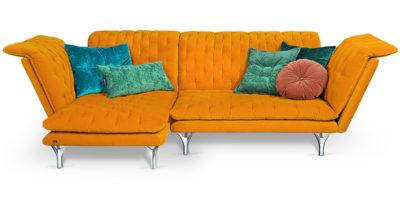 Bretz Pliée Sofa Xli-Ure 115 in sundance