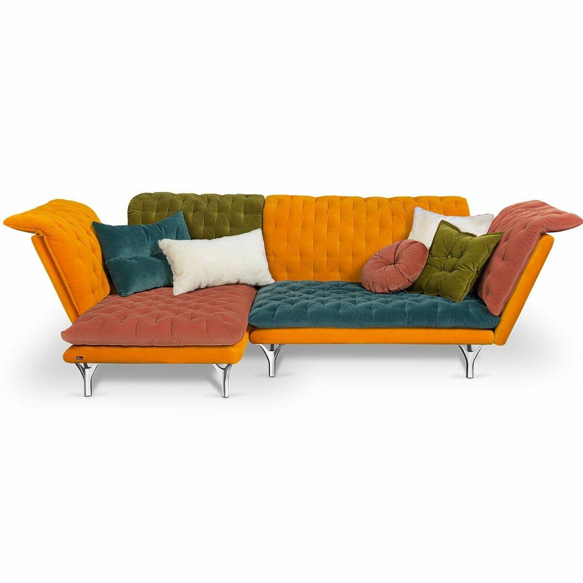 Bretz Pliée Sofa Xli-Ure 115 in bunt
