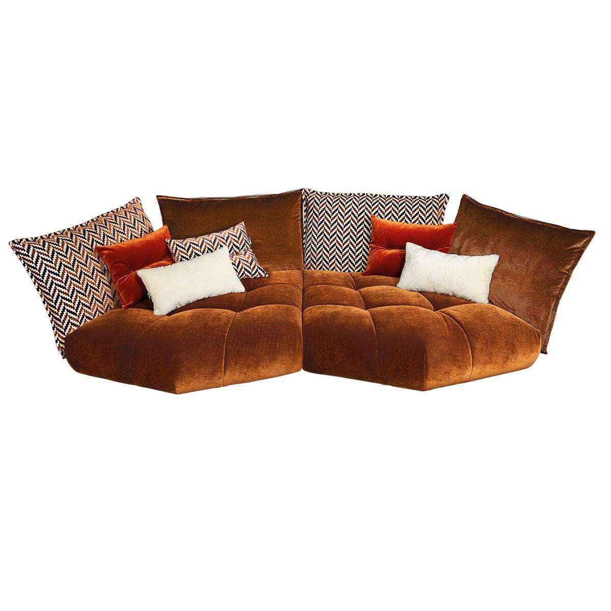 Bretz Sofa MATILDA G116 in rehbraun-spicy