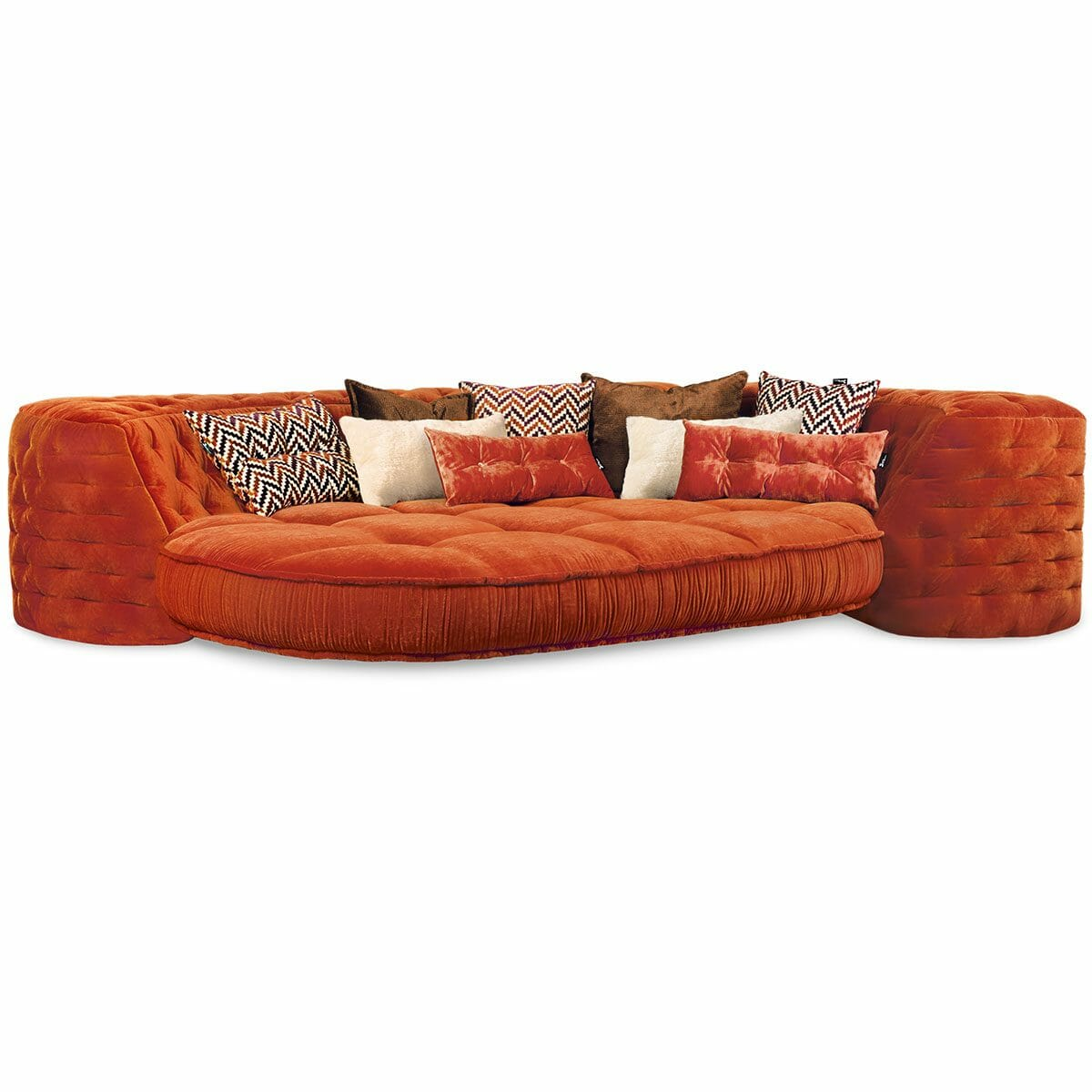 Bretz SOFA ECKBANK Z117re in kupfer-orange